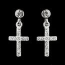Elegance by Carbonneau E-20701-S-Clear Silver Clear Bridal Earrings 20701