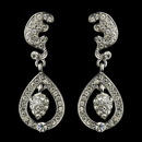 Elegance by Carbonneau E-22325-AS-Clear Antique Silver Clear Kate Middleton Inspired Tear Drop Acorn Earrings 22325