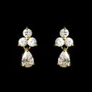 Elegance by Carbonneau E-2262-G-Clear Lovely Gold Clear CZ Earrings 2262