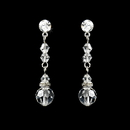 Elegance by Carbonneau E-236-Clear Clear Crystal Bridal Earrings E 236