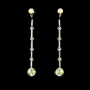 Elegance by Carbonneau E-237-AB AB Swarovski Crystal Earrings E 237