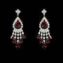 Elegance by Carbonneau E-24792-Red Silver Red Chandelier Earring 24792