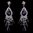 Elegance by Carbonneau e-24792-s-amethyst Silver Amethyst Chandelier Earrings 24792