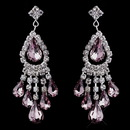 Elegance by Carbonneau e-24792-s-lt-amethyst Silver Light Amethyst Chandelier Earrings 24792