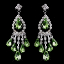 Elegance by Carbonneau e-24792-s-peridot Silver Peridot Chandelier Earrings 24792