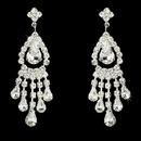 Elegance by Carbonneau E-24792 Silver Clear Chandelier Earring E 24792
