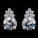 Elegance by Carbonneau E-2499-AS-Clear Silver Clear Round CZ Crystal Stud Earrings E 2499