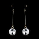 Elegance by Carbonneau E-25729-Gold Elegant Gold Clear Crystal Drop Earrings 25729