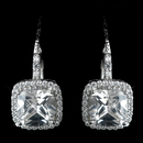 Elegance by Carbonneau E-2635-AS-Clear Curved Cubic Zirconia Crystal Bridal Earrings E-2635