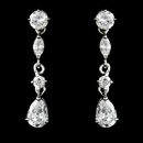 Elegance by Carbonneau E-2656-AS-Clear Crystal Cubic Zirconia Bridal Earrings E 2656