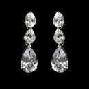 Elegance by Carbonneau E-2770-AS-Clear Classy Cubic Zirconia Accented Dangle Style Silver CZ Earrings E 2770