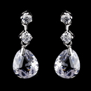 Elegance by Carbonneau E-2855-AS-Clear Earring 2855 Silver Clear