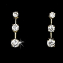 Elegance by Carbonneau E-3516-G-Clear OUR FUTURE Gold Cubic Zirconia Earrings E 3516 Gold