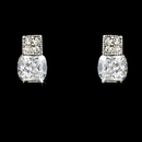 Elegance by Carbonneau E-3518-AS-Clear Elegant Silver Clear CZ Stud Earrings 3518