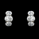Elegance by Carbonneau E-3542-AS-Clear Fabulous Silver Clear CZ Stud Earrings 3542