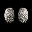 Elegance by Carbonneau E-3704-Silver Antique Silver Pearl Earring Set 3704
