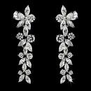 Elegance by Carbonneau E-4031-AS-Clear Beautiful Antique Dangling Cubic Zirconium CZ Earrings E 4031