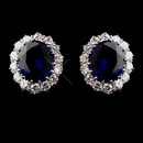 Elegance by Carbonneau E-5015-AS-Sapphire Silver Sapphire Kate Middleton Inspired Earrings 5015