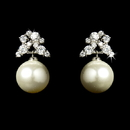 Elegance by Carbonneau E-5152-AS-Ivory Antique Silver Cubic Zirconia & Pearl Earring E 5152