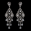 Elegance by Carbonneau E-5344-AS-Clear Antique Silver Clear CZ Cystal Chandlier Earring Set 5344