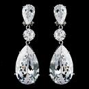 Elegance by Carbonneau E-5383-AS-Clear Breathtaking Large Cubic Zirconium Drop CZ Bridal Earrings 5383