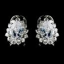 Elegance by Carbonneau E-5397-AS-Clear Encrusted Teardrop CZ Stud Earrings 5397