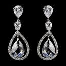 Elegance by Carbonneau e-5876-AS-Clear Atnique Silver Clear CZ Earrings 5876