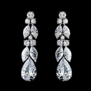 Elegance by Carbonneau E-5883-AS-Clear Antique Silver Clear Cubic Zirconia Earring Set 5883