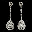 Elegance by Carbonneau E-6500-AS-Clear Enchanting Antique Silver Clear CZ Dangle Earrings 6500
