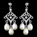 Elegance by Carbonneau E-6524-AS-FW Antique Rhodium Small Freshwater Pearl Drop Chandelier Earrings 6524