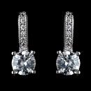 Elegance by Carbonneau Antique Rhodium Silver Clear Petite CZ Crystal Children's Earrings 7402