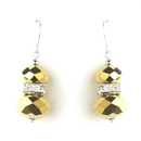 Elegance by Carbonneau E-7618-Gold Gold Silver Clear Earring Set 7618