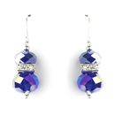 Elegance by Carbonneau E-7618-Purple-AB Purple AB Silver Clear Earring Set 7618