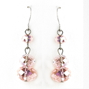 Elegance by Carbonneau E-7619-Pink Pink Dangle Earring Set 7619