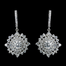 Elegance by Carbonneau Antique Rhodium Silver Clear CZ Crystal Cluster Snowflake Like Leverback Earrings 7771