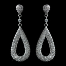 Elegance by Carbonneau Antique Rhodium Silver Clear CZ Crystal Micro Pave Dangle Earrings 7785