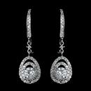 Elegance by Carbonneau Antique Rhodium Silver Clear CZ Crystal Vintage Drop Leverback Earrings 7797