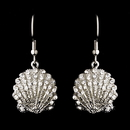 Elegance by Carbonneau E-7800 Silver Clear Sea Shell Earring Set 7800