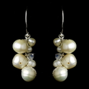 Elegance by Carbonneau E-7831-Pearl Wonderful Ivory Freshwater Pearl & AB Crystal Bead Earrings 7831