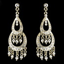 Elegance by Carbonneau E-804-Gold-Clear Earring 804 Gold Clear