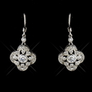 Elegance by Carbonneau E-8107-AS-Clear Intricate Floral Bridal Cubic Zirconia Earring E 8107