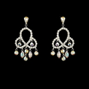 Elegance by Carbonneau E-811-Silver-AB Earring 811 Silver AB