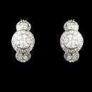 Elegance by Carbonneau E-8116-AS-Clear Silver Cubic Zirconia Bridal Earrings E 8116