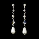Elegance by Carbonneau E-8154-Silver-White Earring 8154 Silver White