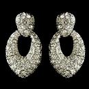Elegance by Carbonneau E-82014-RD-CL Rhodium Clear Pave Rhinestone Stud Earrings 82014