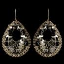Elegance by Carbonneau E-82038-G-Smoke Gold Smoke & Black Beaded & Rhinestone Hand Made Fashion Chandelier Earrings 82038