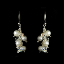 Elegance by Carbonneau E-8249-White-AB White & AB Freshwater Pearl Earrings E 8249