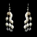 Elegance by Carbonneau E-8250 Freshwater Pearl & Swarovski Crystal Chandelier Earrings E 8250