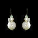Elegance by Carbonneau E-8252 Bridal Beach Themed Coin Pearl & Crystal Earrings E 8252