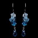 Elegance by Carbonneau E-8259-Aqua Bridal Aqua Crystal Earrings E 8259